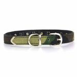 View Image 2 of Camo Diamond & Pyramid Dog Collar - Green