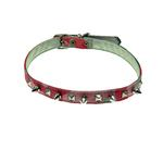 View Image 1 of Camo Spike & Pyramid Dog Collar - Pink