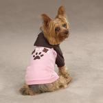 View Image 1 of Camp Chew Dog Hoodie - Orchard Pink