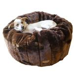View Image 1 of Caramel Cocoa Tiger Dreamz Beddy-Ball Dog Bed