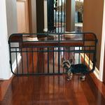 View Image 1 of Carlson Design Studio Expandable Dog Gate with Small Pet Door
