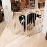View Image 2 of Carlson Flexi Walk-Thru Dog Gate with Pet Door