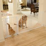 View Image 1 of Carlson Maxi Walk-Thru Dog Gate with Pet Door