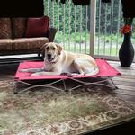 View Image 5 of Carlson Portable Pup Travel Dog Bed - Pink