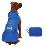 View Image 3 of Fleece-Lined Stowaway Dog Rain Jacket - Blue