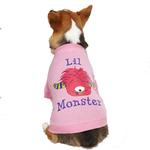 View Image 2 of Casual Canine Lil Monster Dog T-Shirt - Pink