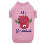 View Image 1 of Casual Canine Lil Monster Dog T-Shirt - Pink