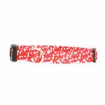 View Image 1 of Casual Canine Pooch Pattern Dog Collar - Red Bone