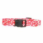 View Image 2 of Casual Canine Pooch Pattern Dog Collar - Red Bone