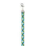 Casual Canine Pooch Pattern Dog Leash - Blue Argyle