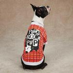 View Image 2 of Punk Rock Pup Dog T-Shirt - Red