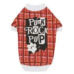 View Image 1 of Punk Rock Pup Dog T-Shirt - Red