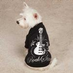View Image 2 of Rock Star Dog T-Shirt - Black