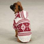 View Image 2 of Snowdrift Cuddler Fleece Dog Hoodie - Red