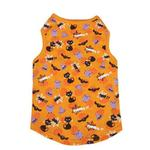 View Image 2 of Casual Canine Spooky Dog Tank Top - Orange