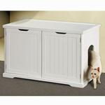 View Image 1 of Cat Washroom Bench - White