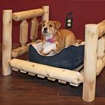 View Image 2 of Cedar Lodge Dog Bed w/ Vertical Rails