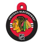 View Image 1 of Chicago Blackhawks Engravable Pet I.D. Tag