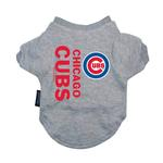Chicago Cubs Dog T-Shirt - Gray