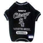 Chicago White Sox Dog T-Shirt - Black