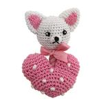 Chihuahua Heart Crochet Dog Toy
