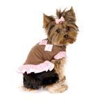 View Image 1 of Chocolate Argyle Dog Dress