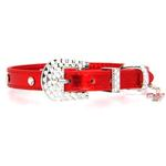 View Image 2 of Christmas Dog Collar with Candy Cane - Metallic Red