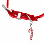 View Image 4 of Christmas Dog Collar with Candy Cane - Metallic Red