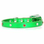 View Image 3 of Christmas Dog Collar with Christmas Tree - Metallic Green