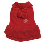 View Image 3 of Christmas Pageant Dog Sweater Dress - Red