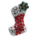 Christmas Slider Dog Collar Charm - Red Stocking