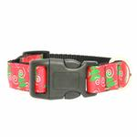 View Image 2 of Christmas Trees Nylon Dog Collar
