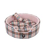 View Image 2 of Classic Plaid Dog Bed by Puppia - Pink