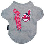 Cleveland Indians Dog T-Shirt - Gray