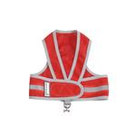 View Image 1 of Cloak & Dawggie Reflective Mesh Step-N-Go Harness - Red