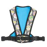View Image 2 of Cloak & Dawggie Snap-N-Go Dog Harness - Skull Print with Blue Fleece
