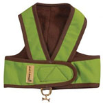 View Image 1 of Cloak & Dawggie Step-N-Go Fleece Lined Harness - Citron Green