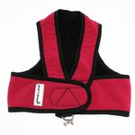View Image 1 of Cloak & Dawggie Step-N-Go Fleece Lined Harness - Hot Pink with Black