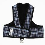 View Image 1 of Cloak & Dawggie Step-N-Go Fleece Lined Harness - Plaid Denim