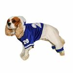 View Image 2 of Collegiate Football Player Dog Costume - Blue