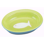 View Image 1 of Color Block Cat Bowl - Green
