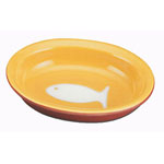 View Image 1 of Color Block Cat Bowl - Yellow