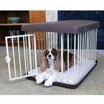 View Image 1 of Carlson 3 in 1 Combi Crate/Freestanding Gate/Pet Pen - Chocolate
