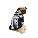View Image 3 of Combo Gingham and Button Dog Hoodie by Puppia - Navy