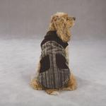 View Image 4 of Corduroy Ranch Dog Coat - Chocolate Stripe