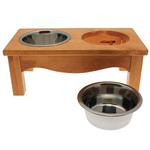 View Image 2 of Country Style Dog Diner - Honey Pine