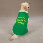 View Image 3 of Country Thing Dog Tank by Zack & Zoey - Green