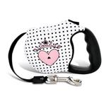 View Image 1 of Couture Princess Retractable Dog Leash