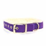 View Image 2 of Cozy Sherpa Dog Collar by East Side Collection - Ultra Violet