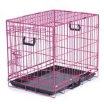 View Image 1 of Crate Appeal Collapsible Wire Dog Crate - Pink Punch